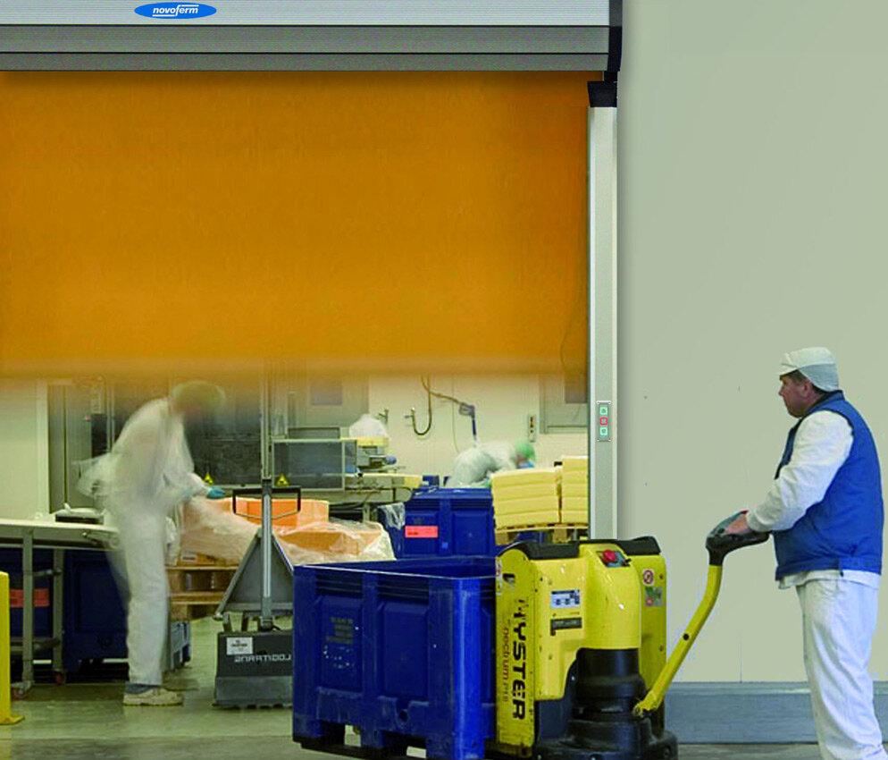 orange rapid roll door