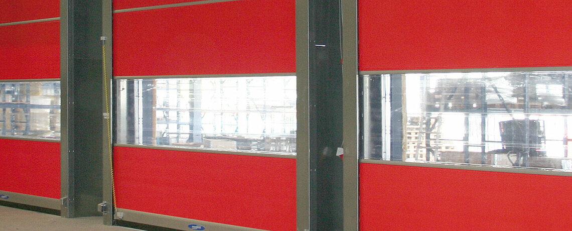 red rapid roll door
